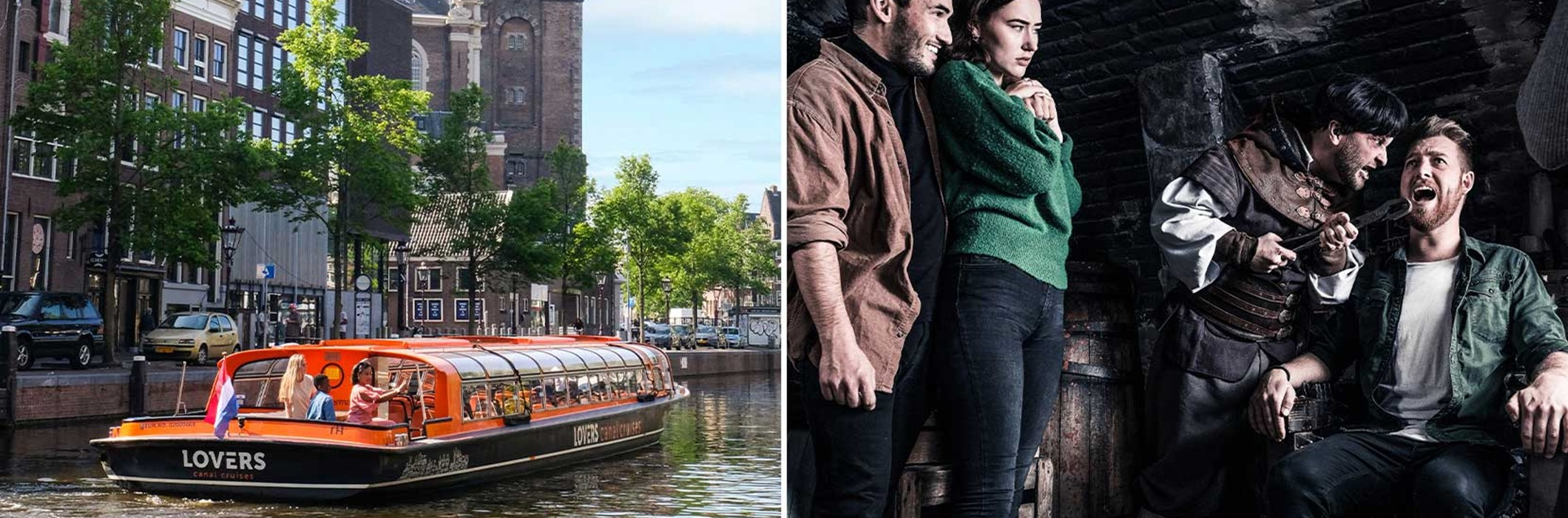 The Amsterdam Dungeon + Amsterdam Canal Cruise