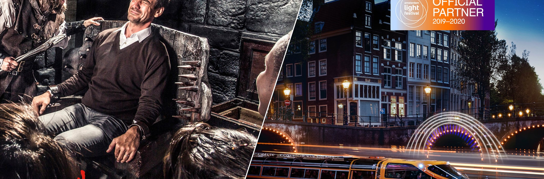 Amsterdam Dungeon + Amsterdam Light Festival Cruise