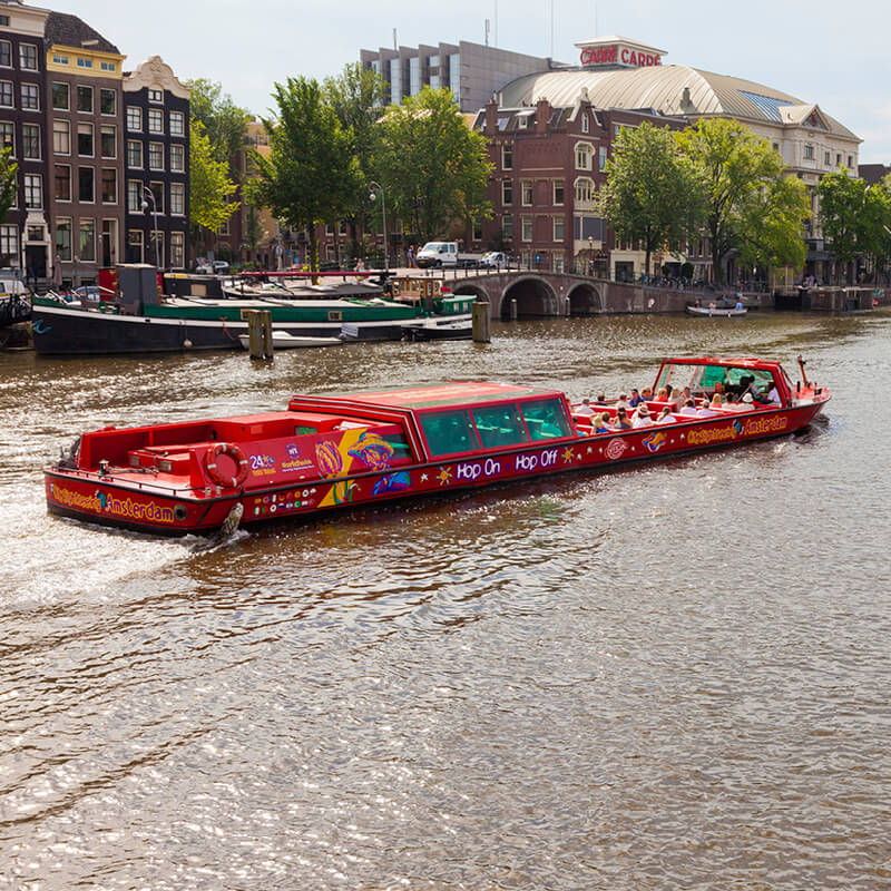 City Sightseeing Hop-on Hop-off by boat in Amsterdam