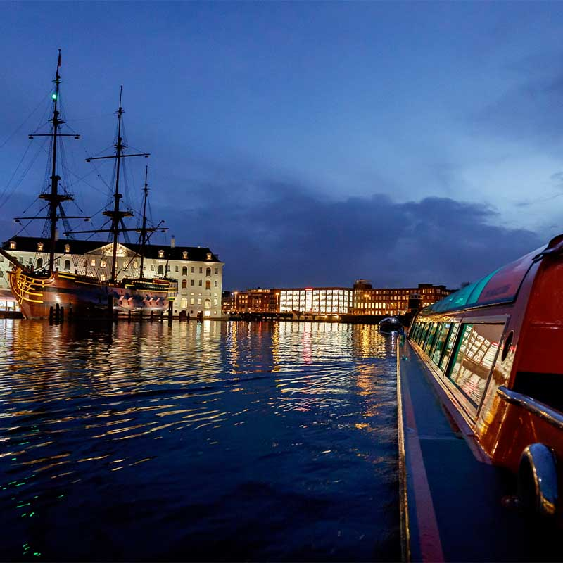1 h. Amsterdam Evening Canal Cruise